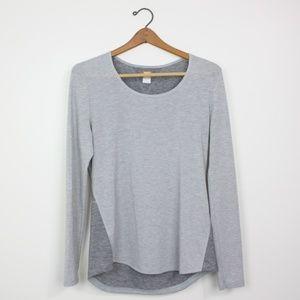 Lucy Tech Gray Long Sleeve Hi-low Shirt Sz M